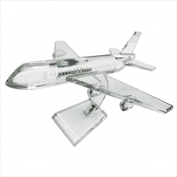 COLOR CRYSTAL AWARD - AEROPLANE SHAPED