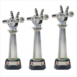 EXCLUSIVE CRYSTAL GLASS AWARDS (MICROPHONE)