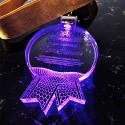 ACRYLIC LIGHTING HANGING MEDAL
