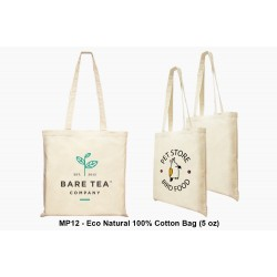 ECO NATURAL 100% COTTON BAG (5 OZ)