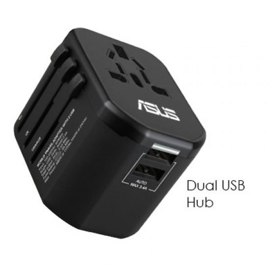 PREMIUM TRAVEL ADAPTER DUAL USB HUB WITH SMART CHARGE 2.4 A
