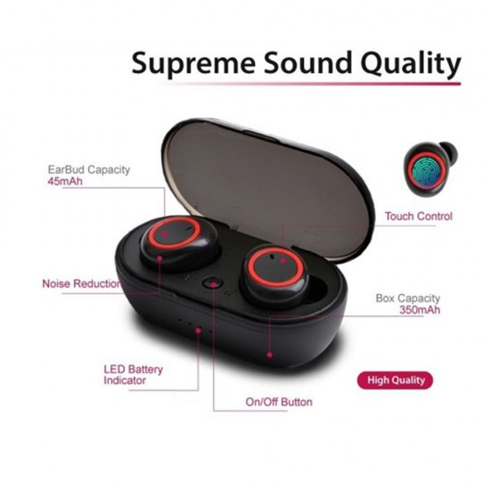 TWS BLUETOOTH EARPHONE WITH PORTABLE CHARGING BOX