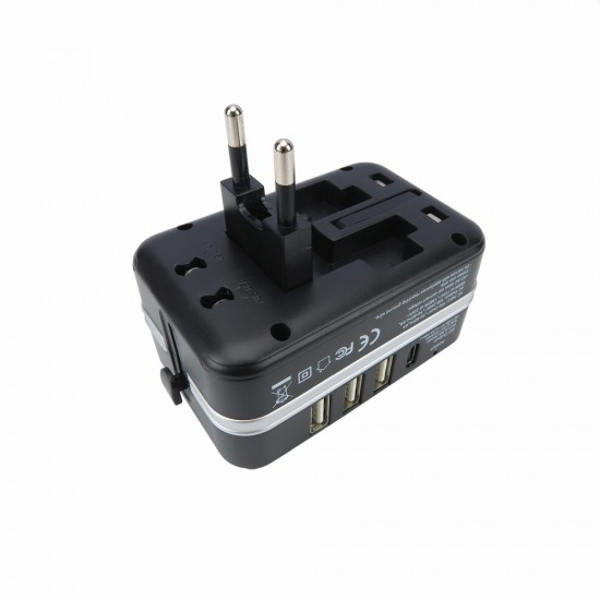 DETACHABLE WORLD TRAVEL ADAPTOR