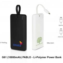 PABLO - LI-POLYMER POWER BANK (10000 MAH)
