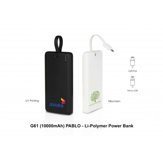 PABLO - LI-POLYMER POWER BANK (10000 MAH)