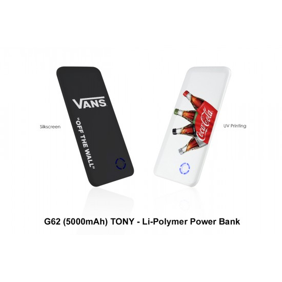 TONY - LI-POLYMER POWER BANK (5000 MAH)