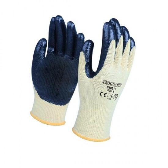 Polyester Cotton Shell Nitrile Coated Glove