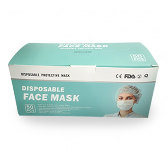50 PCS DISPOSABLE 3PLY FACE MASK