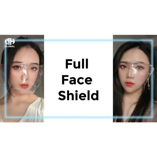 Reusable Hard Full Face Shield Premium Anti-Fog, Suitable for Spec User (Adult & Kid)