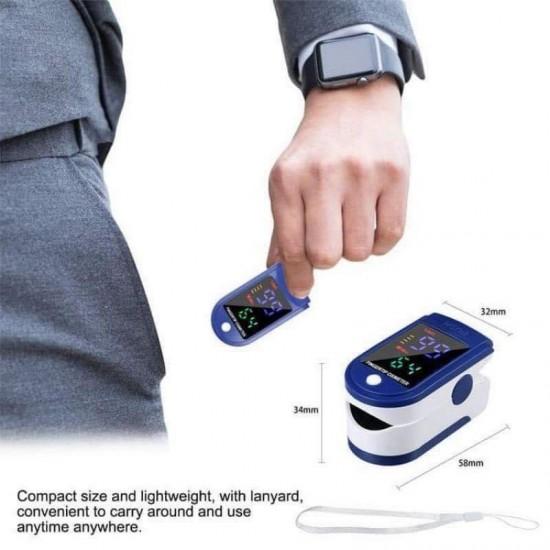 Portable Fingertip Pulse Oximeter Blood Oxygen Saturation Monitor (Sapphire Blue)
