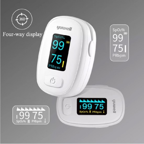 Yuwell OLED XY306 OXIMETER With MCU Chip Finger Oximeter Finger Pulse Oximeter SP02 Monitor