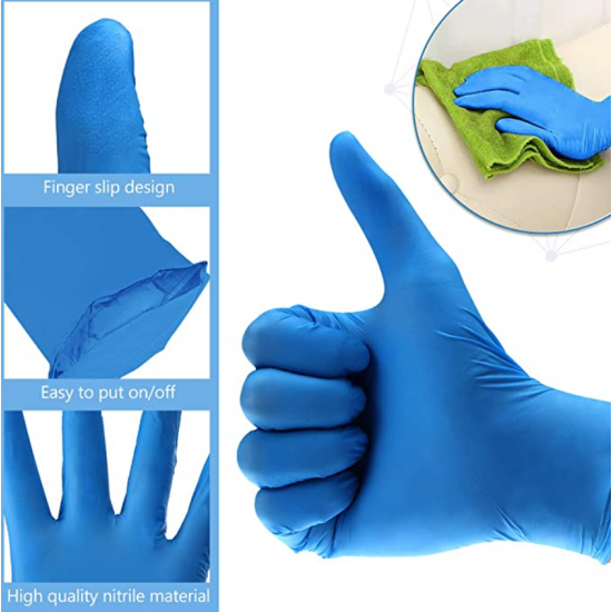 Disposable Powder Free Nitrile Glove (Medical & Commercial use) 100PCS/box CE Non Sterile [Made in Malaysia]