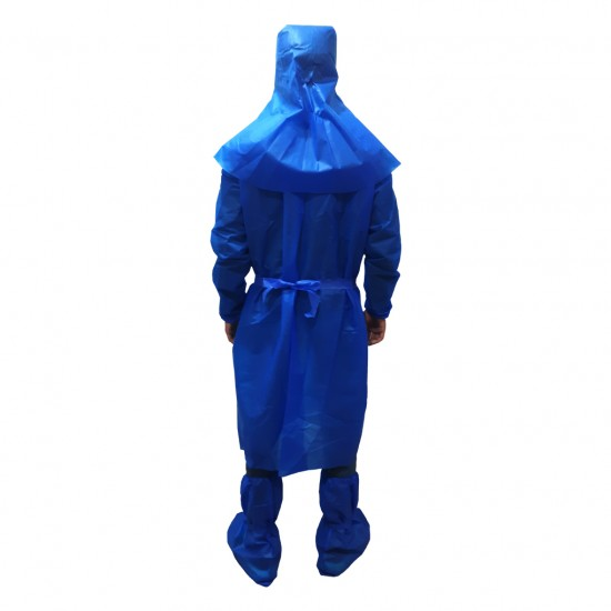 ISOLATION GOWN WITH HEAD AND SHOES COVER