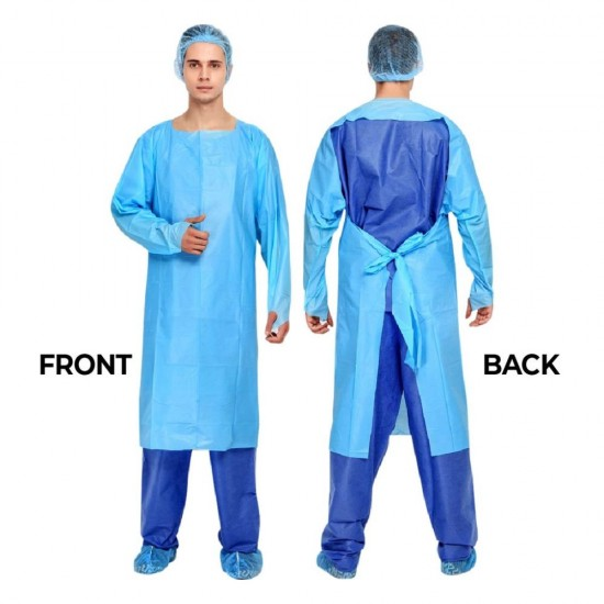Medical CPE Isolation Gown (KKM Approved) Medical Approved Grade, Individual Pack
