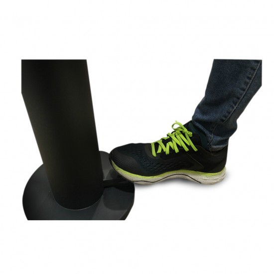 SANITISER TOWER STAND WITH LEG PADDLE