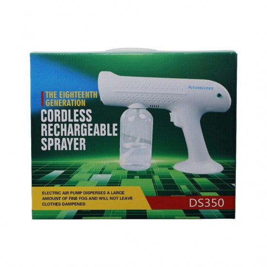 Wireless Atomizer Fogging Machine BlueLight Nano Spray Gun Disinfectant Spray Disinfection Gun