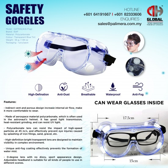GATRIA SAFETY GOGGLES