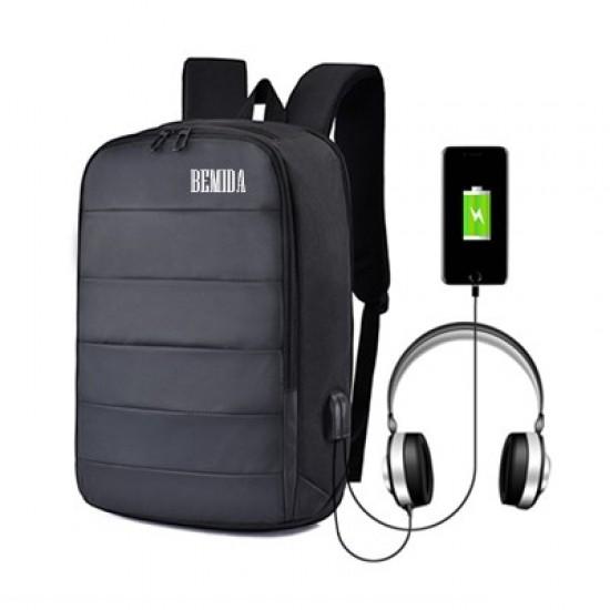 15.6'' RAPH LAPTOP BACKPACK WITH EXTERNAL USB & AUDIO JACK PORT