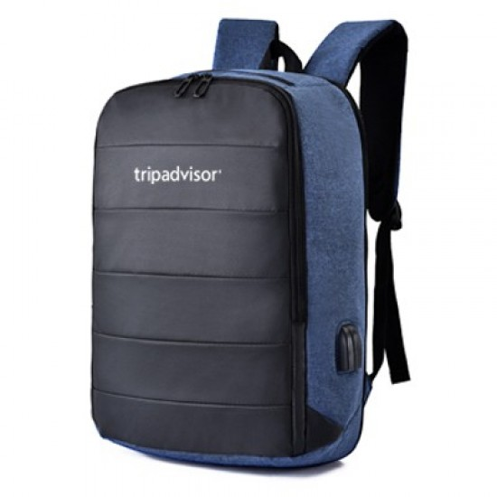 15.6'' RAPH LAPTOP BACKPACK WITH EXTERNAL USB & AUDIO JACK PORT