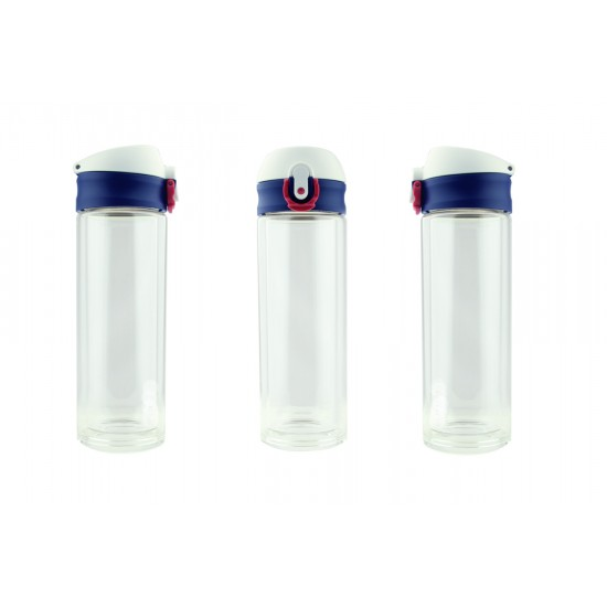 OSLO - DOUBLE WALL GLASS FLASK (330 ML)