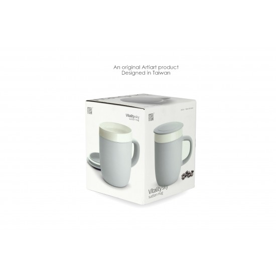 VITALITY SKY - CERAMIC SUCTION MUG (260 ML)