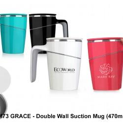 GRACE - DOUBLE WALL SUCTION MUG (470 ML)