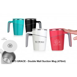 GRACE - DOUBLE WALL SUCTION MUG (470 ML)