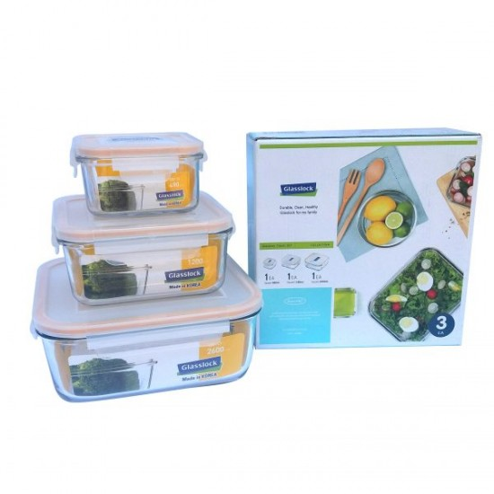 3 PCS SET OF FOOD CONTAINER (GL-155)