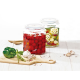 2 PCS SET OF GLASS CANISTER (IG-671)