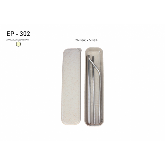 ECO STAINLESS STEEL STRAW WITH WHEAT BOX