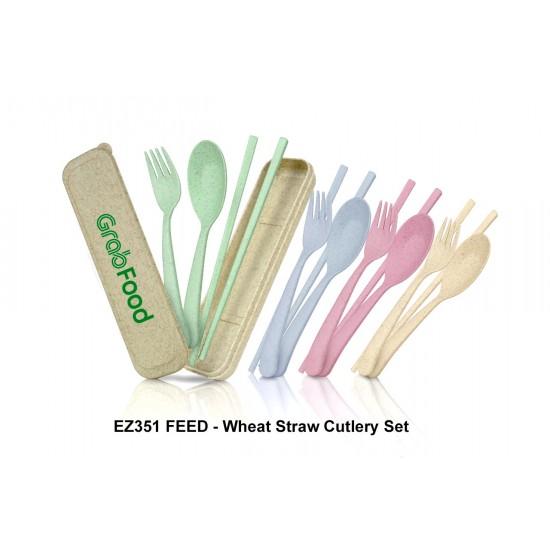 FEED - WHEAT STRAW CUTLERY SET