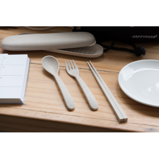 PORTABLE TRAVEL CUTLERY SET
