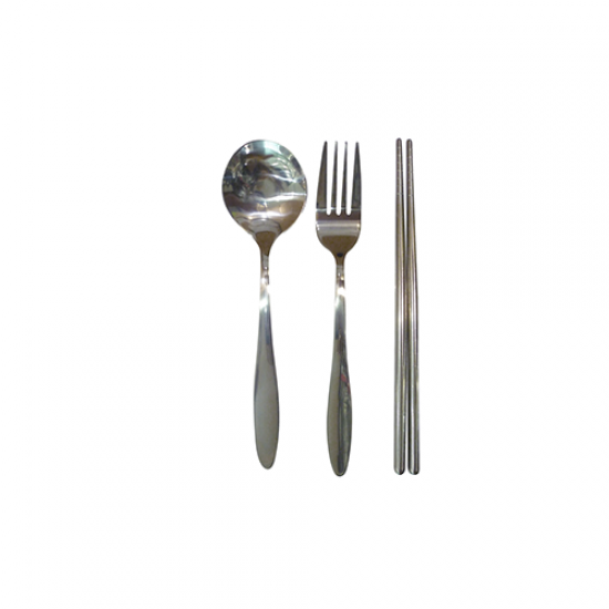ECO-FRIENDLY CUTLERY SET WITH POUCH