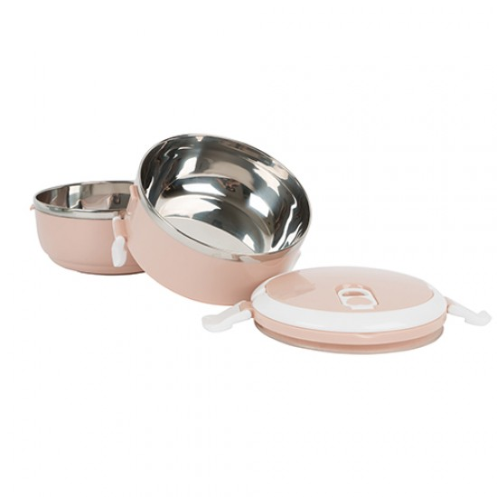2 TIER STAINLESS STEEL LUNCH BOX HS-4132