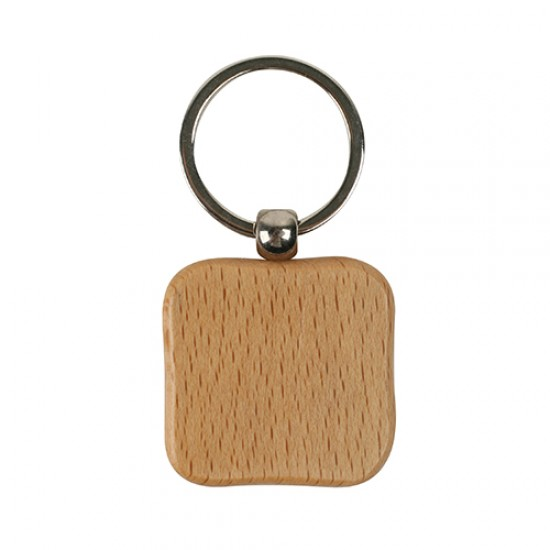 WOODEN SQUARE KEY CHAIN