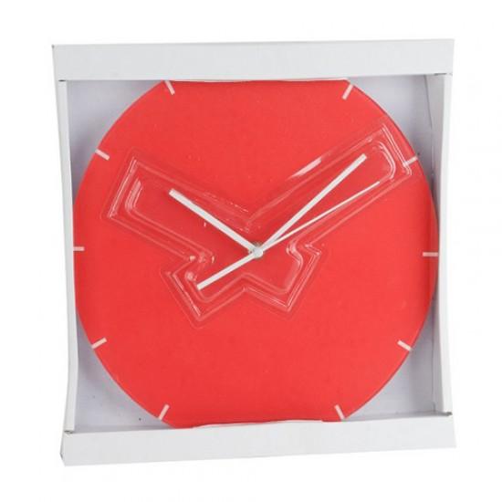 COLOURFUL GLASS WALL CLOCK