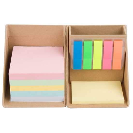 ECO MEMOBOOK WITH POST IT NOTE & PEN