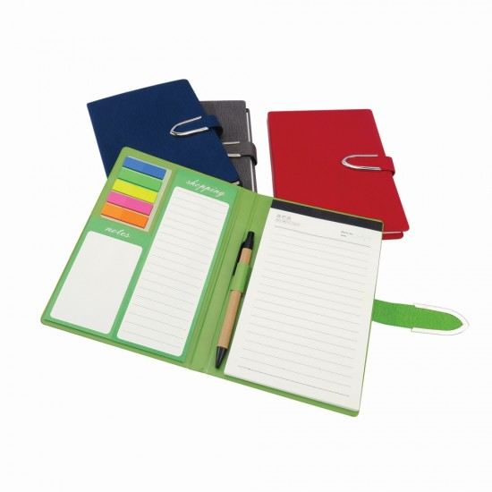 NOTEBOOK WITH POST IT NOTE & PEN