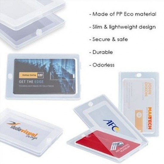 Transparent PP Box for Flip Card USB