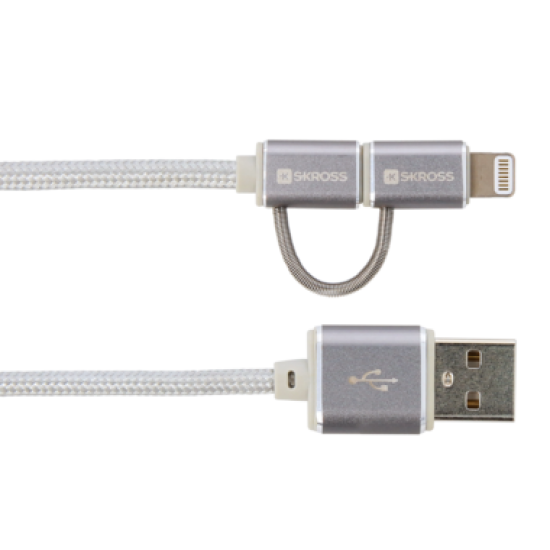 2-IN-1 CHARGE'N SYNC CABLE – STEEL LINE