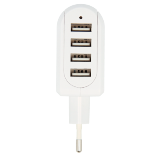 EURO USB CHARGER – 4-PORT
