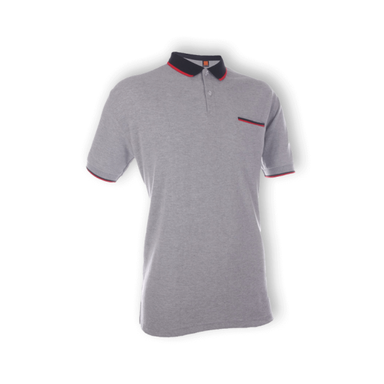 UNISEX COLLAR T-SHIRT (WITH POCKET)
