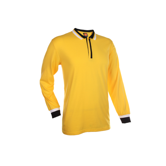 SINGLE JERSEY LONG SLEEVE POLO SHIRT