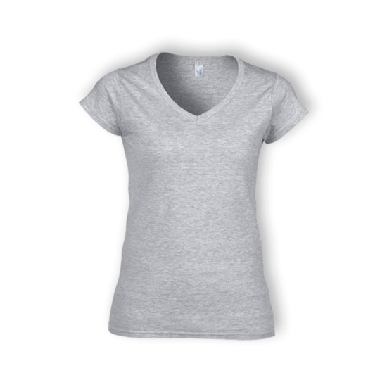 63V0L LADIES SOFT STYLE V-NECK T-SHIRT