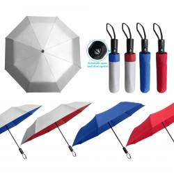 "21"" 3 FOLD AUTO OPEN UMBRELLA-SILVER COATED"