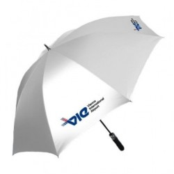 "27"" Auto Open Silver Coated Golf Umbrella"