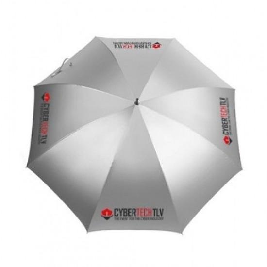 """27"""" Auto Open Silver Coated Golf Umbrella"""