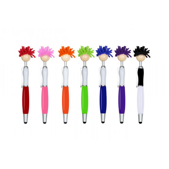 MOP TOPPERS - STYLUS BALL PEN WITH SCREEN CLEANER