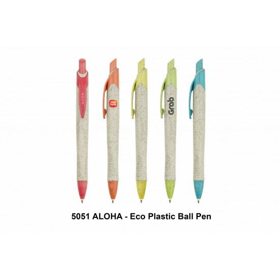 ALOHA - ECO PLASTIC BALL PEN